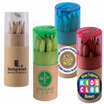 promotional coloured pencils in cardboard tube