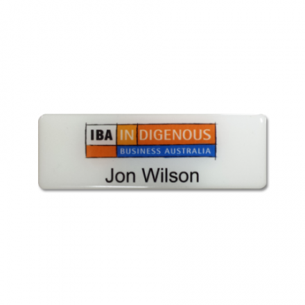custom Printed Name Badge Corporate Classic