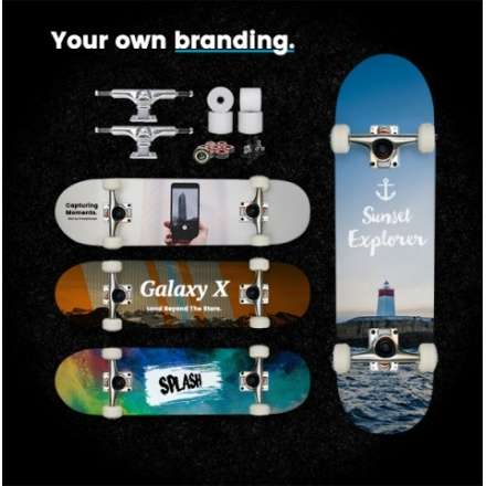 custom made promotional skateboard