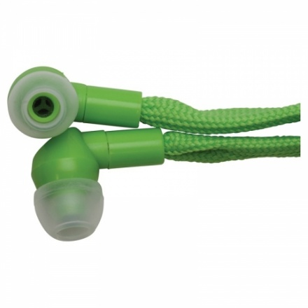 shoelace earphones green