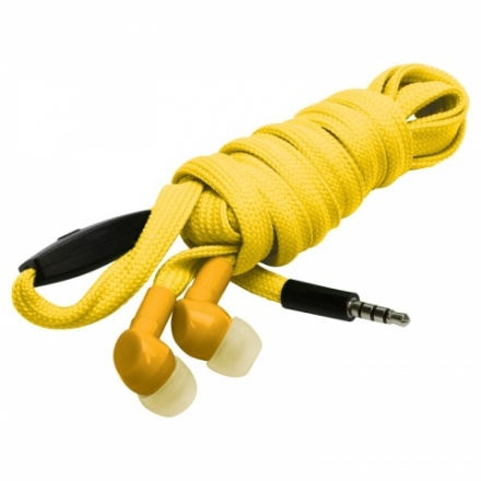 shoelace earphones yellow